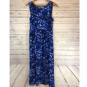 Cool Cube blue roses maxi dress